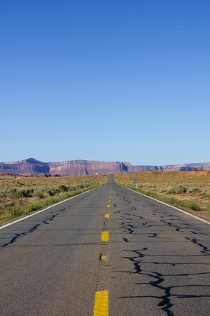 Scenic road to Monument Valley in USA photo