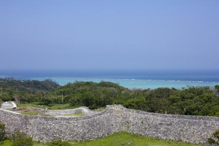 Nakijin Gusuku ruins in Okinawa, Japan 写真素材