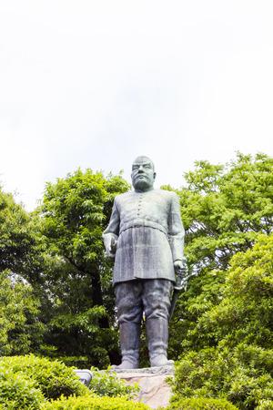 Statue of Takamori Saigo in Kagoshima, Japan