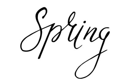 Spring. Handwriting calligraphy. Vector