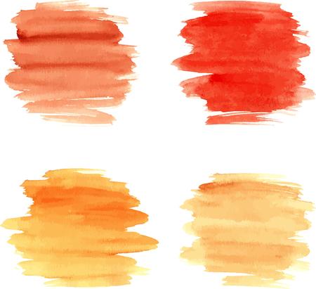 watercolor brush: Watercolor brushstrokes for design. Vector illustration