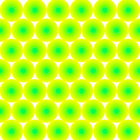 Pattern of many yellow-green balls on a white background. Vector image. Banque d'images - 152544102