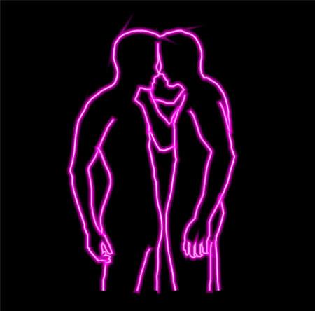 Gay bar neon banner