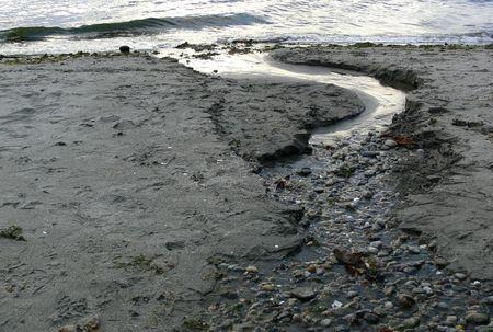 Retreating Waters Stock Photo