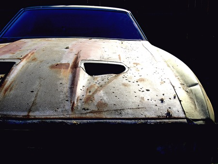 transportaion: Dark Car Stock Photo