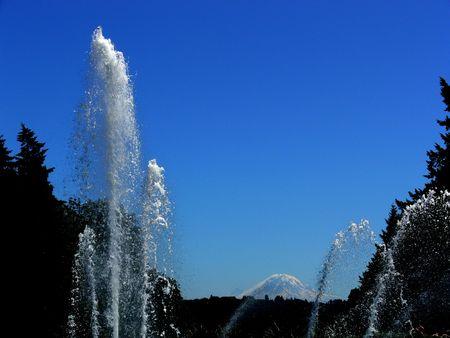 Fountain and Mountain