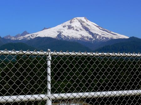 Fenced Mountain Imagens