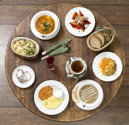 good business: Various options for business lunch in a provincial style