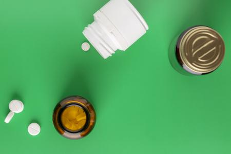 Various pill bottles Stock Photo