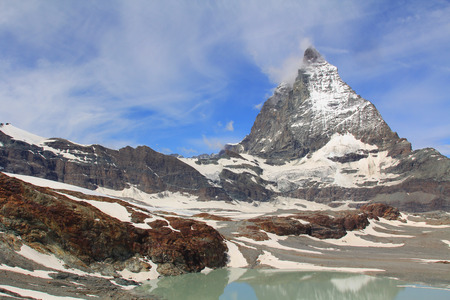 matterhorn: Mount Matterhorn in Switzerland Stock Photo