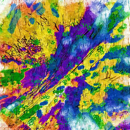 gamme de produit: Résumé saturé couleur image 2D avec le bruit et les lignes dentelées