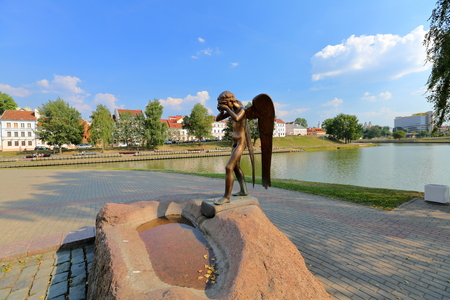 Minsk, Belarus - August 7, 2015: Memorial Island of Courage and Sorrow