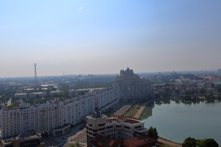 minsk: Panorama Belarus capital city of Minsk from high-rise building