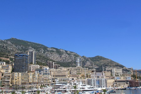 d���azur: MONTE-CARLO, MONACO - JULY 17, 2012: View shot in the Principality of Monaco during a trip to the Cote d Azur