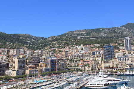 principality: MONTE-CARLO, MONACO - JULY 17, 2012: View shot in the Principality of Monaco during a trip to the Cote d Azur