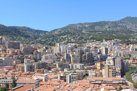 azur: MONTE-CARLO, MONACO - JULY 17, 2012: View shot in the Principality of Monaco during a trip to the Cote d Azur