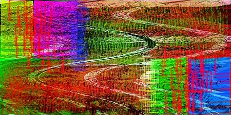 saturated: Abstract saturated full color picture with noise and jagged lines