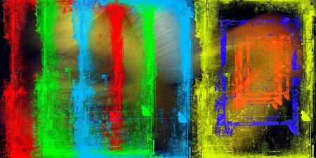 gamme de produit: R�sum� satur� image couleur compl�te avec bruit et d�chiquet�es lignes Banque d'images