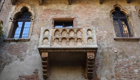 juliet: Balcony in the house of the legendary Shakespeares Juliet in Verona, Italy