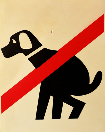 shit: Prohibiting signs about the inadmissibility dog shit