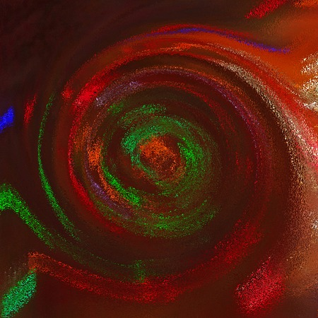 saturated: Abstract saturated full color 2D picture with noise and jagged lines Stock Photo