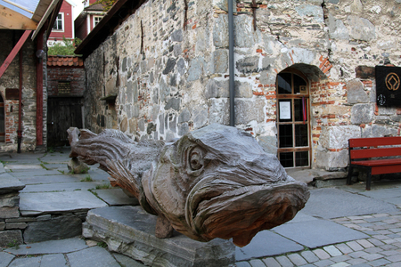 and plot: BERGEN, NORWAY - SEPTEMBER 09, 2012: Urban plot in Scandinavian city