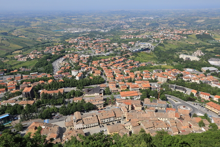 San Marino is one of the smallest countries in the world. General view