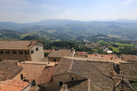 San Marino is one of the smallest countries in the world. General view Stock Photo