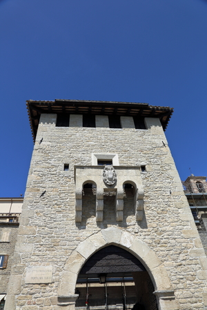 independent: Ancient architecture of the independent Republic of San Marino in the summer Stock Photo