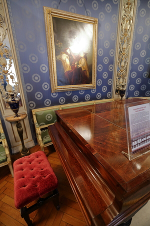 scala: MILAN, ITALY - MAY 29, 2016: Interior of the La Scala Opera House Museum