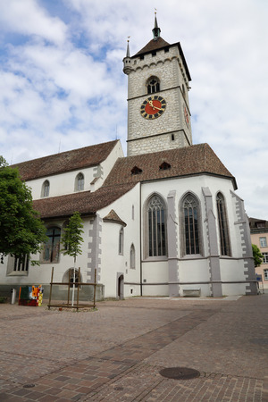 exquisite: Exquisite architecture of the beautiful Swiss city of Schaffhausen Stock Photo
