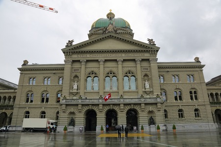 exquisite: Exquisite architecture of the beautiful Swiss capital city of Bern Stock Photo