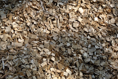 cuttings: Chips made of precious wood for construction and landscape design