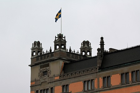 exquisite: Exquisite architecture of the beautiful Swedish capital city of Stockholm Stock Photo