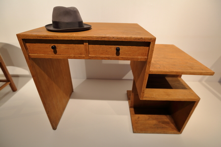 furniture part: Part of wooden furniture interior of the retro room in apartment