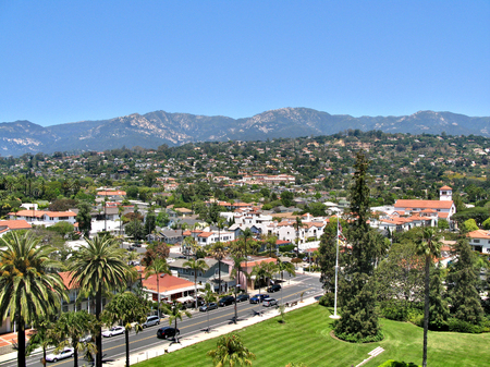 eponymous: Santa Barbara - cozy resort town in the eponymous district in the state of California, United States of America Stock Photo