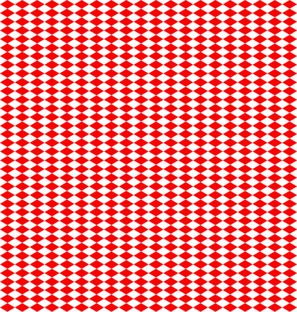 white backing: Panel made of alternating lozenges of red and white colors