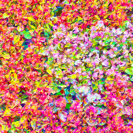 product range: Abstract saturated full color 2D picture with noise and jagged lines Stock Photo