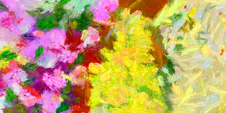 etude: Abstract saturated full color 2D picture with noise and jagged lines Stock Photo