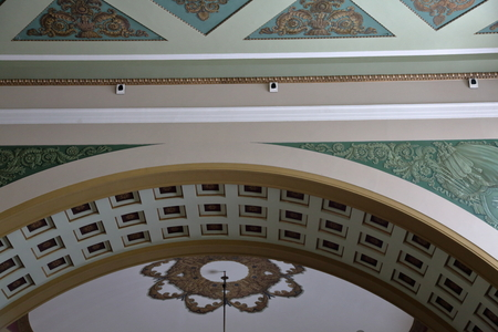 interior spaces: MOSCOW, RUSSIA - DECEMBER 10, 2016: Interior of the Kievskiy railway station Editorial
