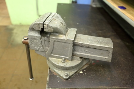 vice grip: Huge iron grip vice of the workplace