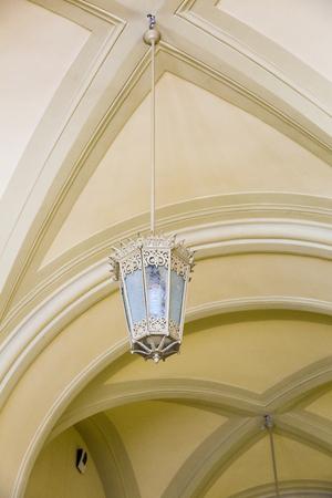 premises: Lamp as the idea of the large public premises lighting Stock Photo