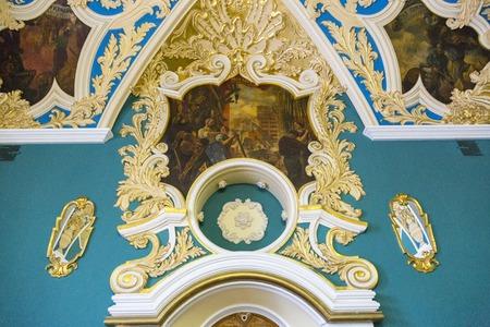 kazansky: MOSCOW, RUSSIA - JANUARY 5, 2017: Kazansky railway station. Decor of the waiting room for VIPs