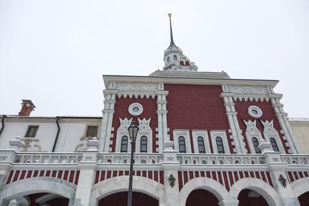 kazansky: MOSCOW, RUSSIA - JANUARY 5, 2017: The facade of the Kazansky train station building Editorial