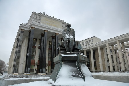 notability: RUSSIA, MOSCOW - JANUARY 14, 2017: Monument to the great russian writer Fyodor Dostoevsky