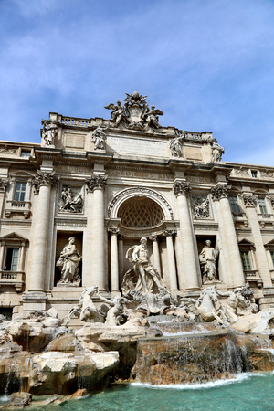 neptuno: ROME, ITALY - APRIL 03, 2014: Trevi - the largest fountain in Rome