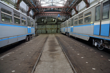 depot: The depot with workshops for the repair of subways rolling stock and metro wagons