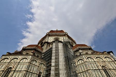 FLORENCE, ITALY - APRIL 06, 2014: La Cattedrale di Santa Maria del Fiore in the city center at sunny day