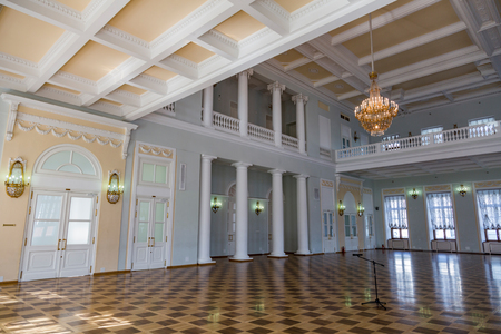 premises: MOSCOW, RUSSIA - APRIL 15, 2017: Pashkov House built in the 18th century. The building belongs to the Russian State Library. Located in the very center of the city on Vozdvizhenka Street. Interior