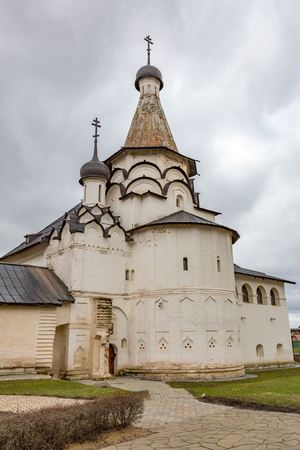 monastic: SUZDAL, RUSSIA - APRIL 28, 2017: Spaso-Evfimiev Monastery. Architectural and Museum Complex Editorial